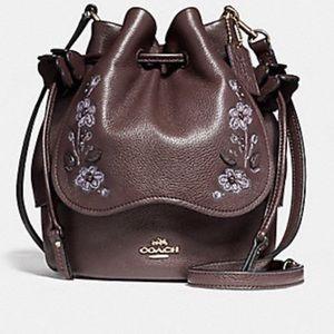 Coach Floral Embroidered Petal Bag